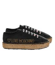 Chaussures Femme - LOVE MOSCHINO Espadrilles lacées, en cuir