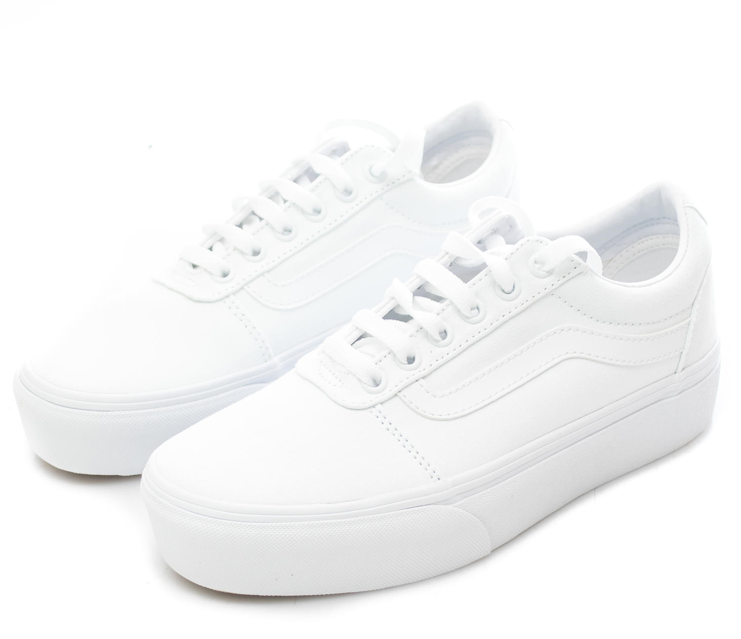 vans blanches plateforme