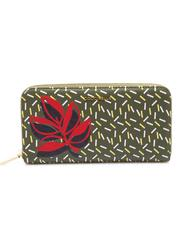 - COCCINELLE METALLIC GRAPHIC LEAVES Portefeuille cuir