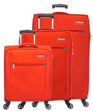 - AMERICAN TOURISTER HYPERFIELD Ensemble de valises trolleys : cabine + moyenne ext. + grande ext.