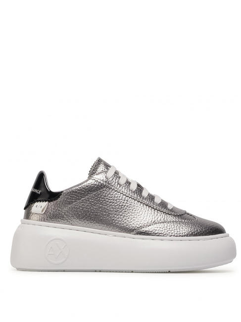 - A|X ARMANI EXCHANGE Baskets plateforme en cuir