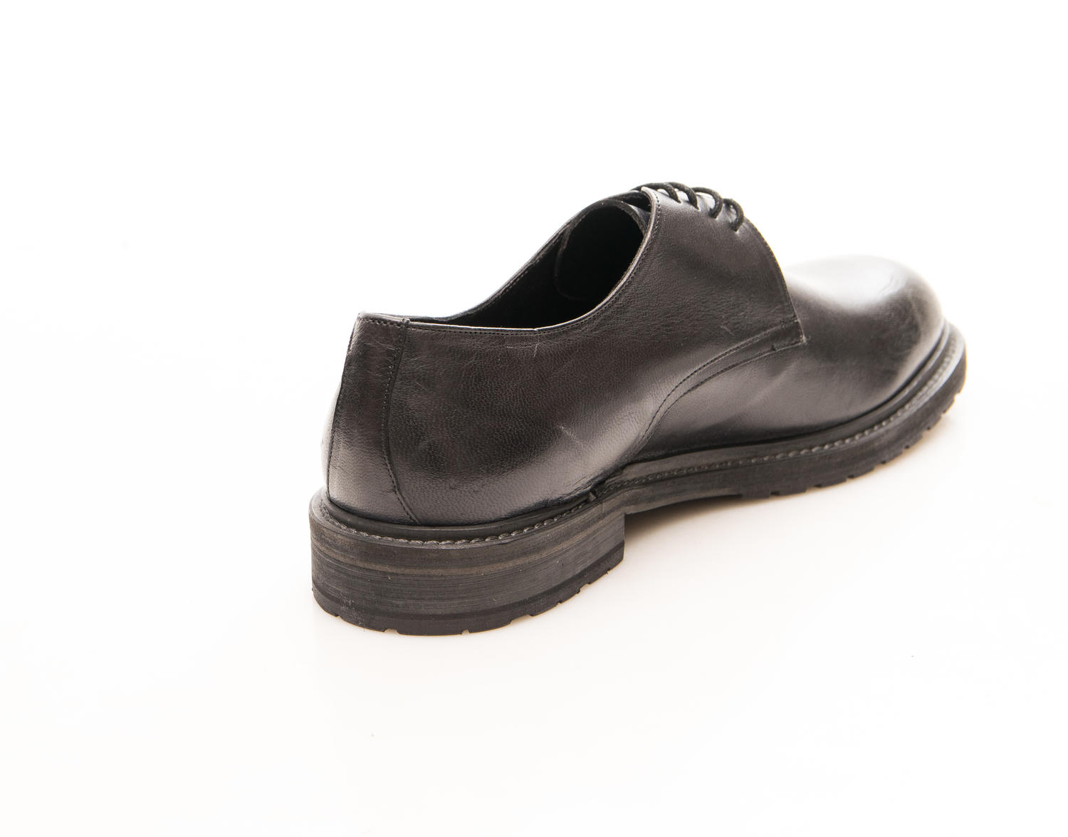 1953 In Made Italy Cuir Lacets Noir Minoronzoni En Chaussures d7xYdfq