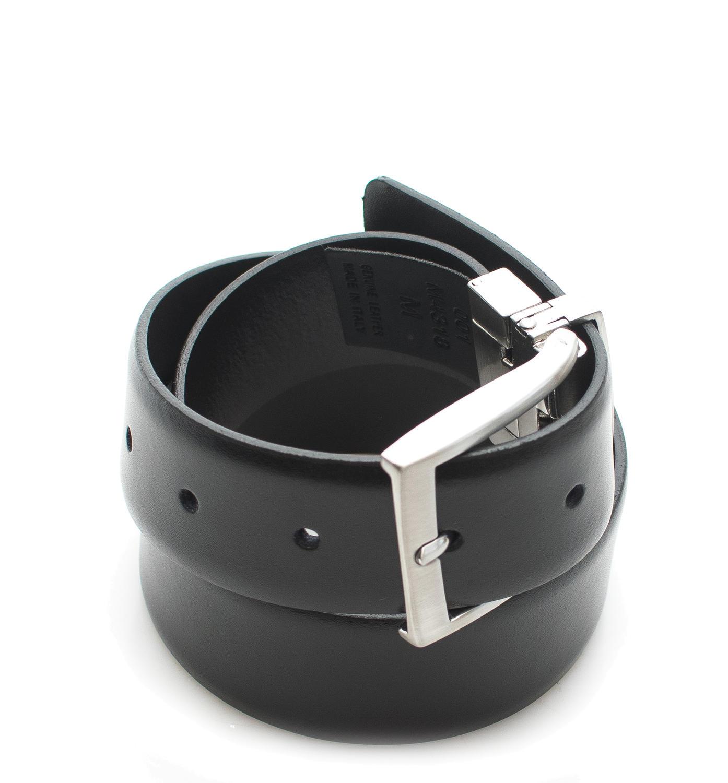 Cintura La Martina Pelle Unisex Nero Belt Leather Black Made In Italy